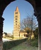 Abadía de Pomposa en Ferrara Foto de archivo