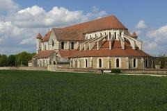 Abadía de Pontigny Fotos de archivo libres de regalías