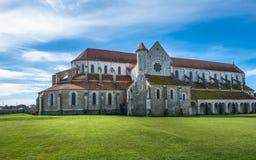 Abadía de Pontigny en Borgoña, Francia Fotos de archivo