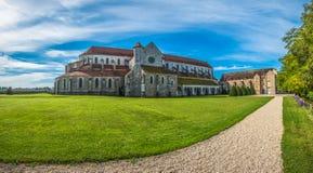 Abadía de Pontigny en Borgoña, Francia Fotos de archivo libres de regalías