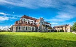 Abadía de Pontigny en Borgoña, Francia Imagenes de archivo