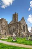 Abadía de Quin en Co. Clare Imágenes de archivo libres de regalías
