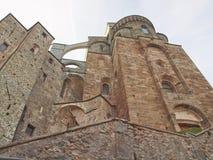 Abadía de Sacra di San Micaela Foto de archivo libre de regalías