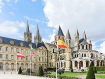Abadía de Saint-E'tienne en Caen, Francia Foto de archivo libre de regalías