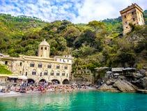 Abadía de San Fruttuoso - Génova - Liguria - adore el lugar y pequeño Imagenes de archivo