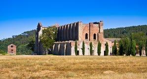 Abadía de San Galgano Fotos de archivo libres de regalías