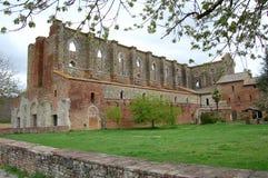 Abadía de San Galgano Imagen de archivo libre de regalías