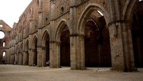 Abadía de San Galgano almacen de metraje de vídeo