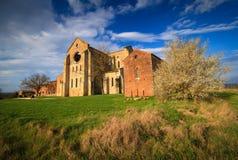 Abadía de San Galgano Fotografía de archivo libre de regalías