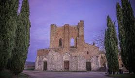 Abadía de San Galgano, Toscana Foto de archivo libre de regalías