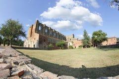 Abadía de San Galgano, Toscana, Italia Imágenes de archivo libres de regalías