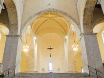 Abadía de San Giovanni en Venere en Fossacesia (Italia Imagen de archivo libre de regalías