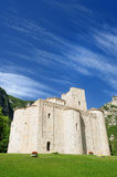Abadía de San Vittore, Marche, Italia Imagen de archivo libre de regalías