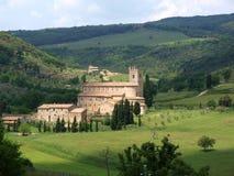 Abadía de Sant Antimo Imagen de archivo libre de regalías