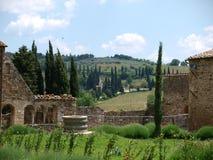 Abadía de Sant Antimo Imagenes de archivo
