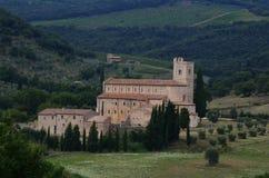 Abadía de Sant Antimo Fotografía de archivo libre de regalías