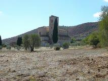 Abadía de Sant Antimo en Montalcino Fotos de archivo libres de regalías