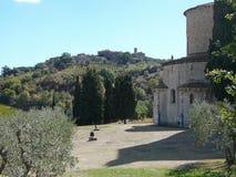Abadía de Sant Antimo en Montalcino Foto de archivo libre de regalías