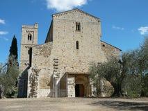 Abadía de Sant Antimo en Montalcino Foto de archivo