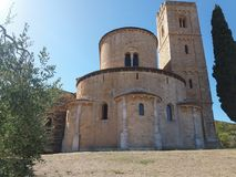 Abadía de Sant Antimo en Montalcino Imagen de archivo libre de regalías