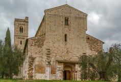 Abadía de Sant Antimo, Italia Imágenes de archivo libres de regalías
