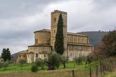 Abadía de Sant Antimo, Italia Imagen de archivo libre de regalías