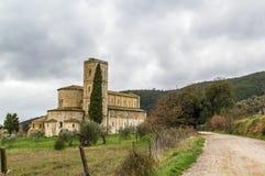 Abadía de Sant Antimo, Italia Foto de archivo