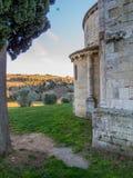 Abadía de Sant& x27; Antimo, Montalcino, Toscana Imágenes de archivo libres de regalías