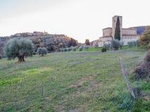 Abadía de Sant& x27; Antimo, Montalcino, Toscana Foto de archivo