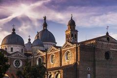 Abadía de Santa Giustina en Padua Fotografía de archivo libre de regalías