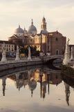 Abadía de Santa Giustina en Padua Foto de archivo libre de regalías