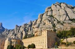 Abadía de Santa María de Montserrat, España Fotos de archivo libres de regalías