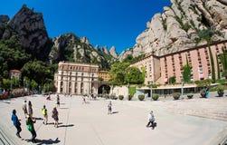 Abadía de Santa María de Montserrat, España Fotos de archivo
