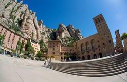 Abadía de Santa María de Montserrat, España Foto de archivo