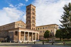 Abadía de Santa Maria en Grottaferrata, Italia Imagen de archivo libre de regalías