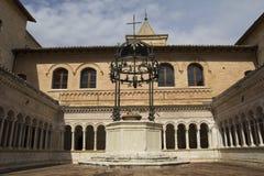 Abadía de Sassovivo en Foligno, Italia Fotografía de archivo libre de regalías