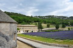 Abadía de Senanque, Francia Imagen de archivo