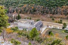 Abadía de Senenque Imagen de archivo libre de regalías