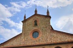 Abadía de St. Colombano. Bobbio. Emilia-Romagna. Italia. Fotografía de archivo