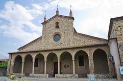 Abadía de St. Colombano. Bobbio. Emilia-Romagna. Italia. Foto de archivo libre de regalías