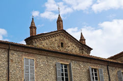 Abadía de St. Colombano. Bobbio. Emilia-Romagna. Italia. Foto de archivo