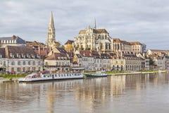 Abadía de St Germain, Auxerre Fotos de archivo libres de regalías