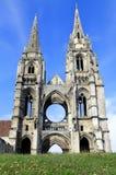 Abadía de St-Jean-DES Vignes, Soissons Fotografía de archivo