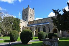 Abadía de Tewkesbury, Gloucestershire, Inglaterra Imagen de archivo