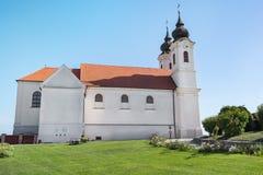 Abadía de Tihany cerca del lago Balatón, Hungría Imagen de archivo libre de regalías