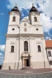 Abadía de Tihany cerca del lago Balatón, Hungría Imagenes de archivo
