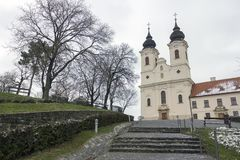 Abadía de Tihany en Hungría Imágenes de archivo libres de regalías