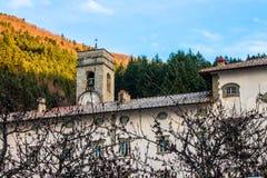 Abadía de Vallombrosa en Toscana, Italia Fotografía de archivo