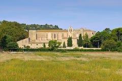 Abadía de Valmagne en Francia meridional Fotografía de archivo libre de regalías