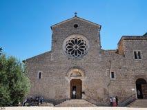 Abadía de Valvisciolo en Italia Fotos de archivo
